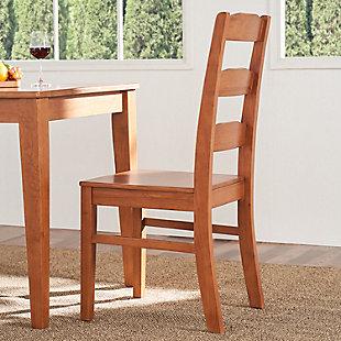 Elsmere Elsmere Ladder Indoor Wood Dining Chair (Set of 2), , rollover