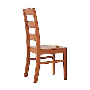 Elsmere Elsmere Ladder Indoor Wood Dining Chair (Set of 2), , large