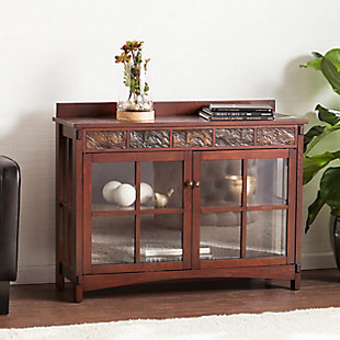 Paston Paston Mission Faux Slate Sideboard and Display Curio, , rollover