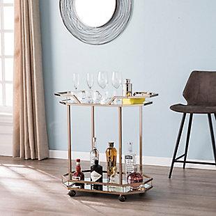 Charles Charles Art Deco Bar Cart, , rollover