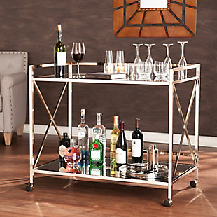 Dresden Dresden Bar Cart, Gold, rollover