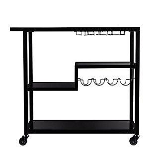 Holly & Martin Holly & Martin Zephs Bar Cart – Black with Smoked Mirror, , large