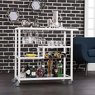 Zephs Zephs Bar Cart - White, , rollover