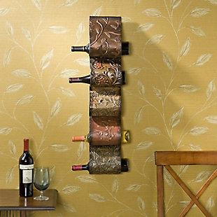 Naynie Naynie Wall Mount Wine Rack Sculpture, , rollover