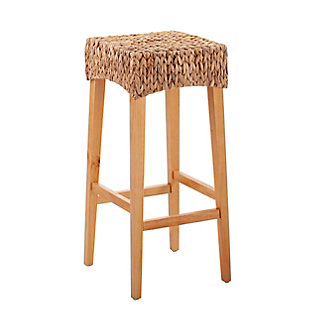 Travol Travol Pair of Natural Bar Height Stools, Brown, large