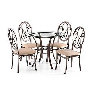 Reid Reid Chairs 4pc Set  - Dark Brown, , large