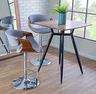Curvo Adjustable Height Bar Stool, , rollover