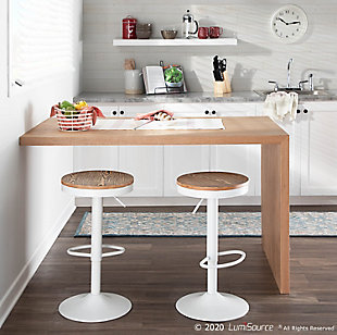 Dakota Adjustable Height Bar Stool, , rollover