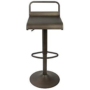 Emery Adjustable Height Bar Stool, , large