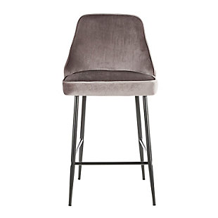 Marcel Counter Stool (Set of 2), Black/Silver, large