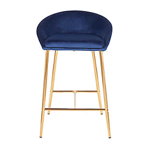 Matisse Counter Stool (Set of 2), Gold/Blue, large