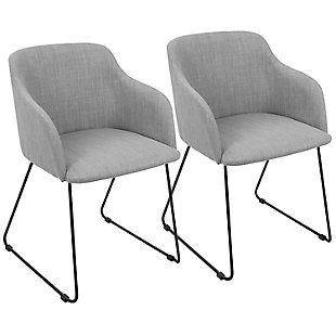 Daniella Sleigh Chair (Set of 2), , large