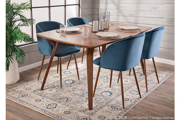 Fran Velvet Dining Chair Set Of 2, Ashley Furniture Blue Dining Room Chairs
