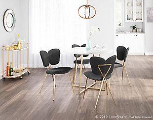 Madeline Velvet Dining Chair (Set of 2), Gold/Black, rollover