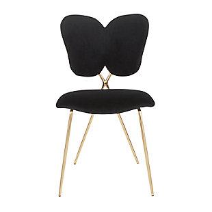 Madeline Velvet Dining Chair (Set of 2), Gold/Black, large