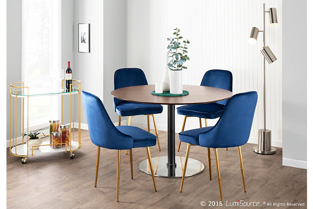 Marcel Velvet Dining Chair Set Of 2, Ashley Furniture Blue Dining Room Chairs