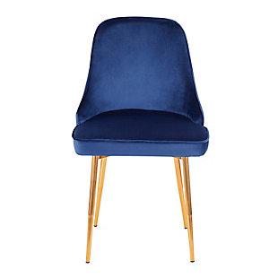 Marcel Velvet Dining Chair (Set of 2), Gold/Navy Blue, large