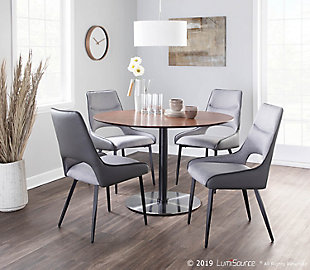 Mickey Dining Chair (Set of 2), Black/Gray, rollover