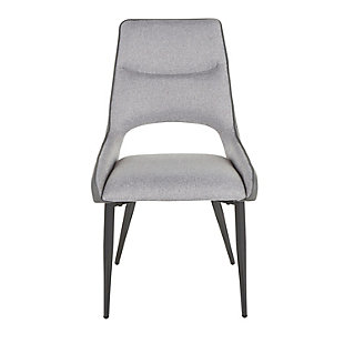 Mickey Dining Chair (Set of 2), Black/Gray, large