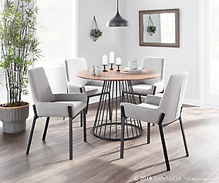 Odessa Dining Chair (Set of 2), Black/Dark Gray, rollover