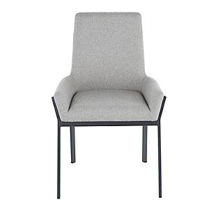Odessa Dining Chair (Set of 2), Black/Dark Gray, large