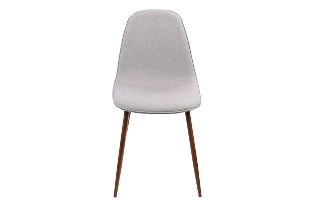 Pebble Dining Chair (Set of 2), Walnut/Gray, large