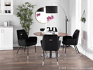 Wendy Velvet Dining Chair (Set of 2), Black, rollover