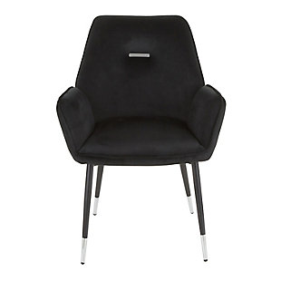 Wendy Velvet Dining Chair (Set of 2), Black, large