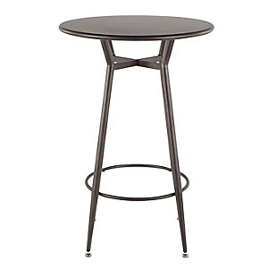 Clara Round Bar Height Table, Antique, large