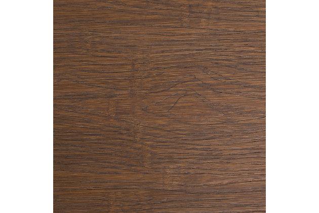 Dakota Adjustable Height Table, Antique/Brown, large