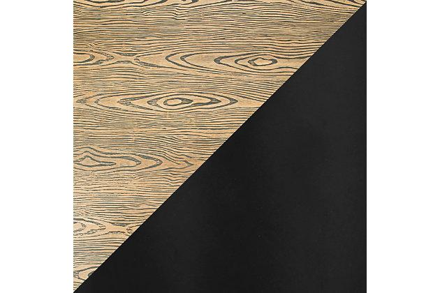 Dakota Adjustable Height Table, Black/Medium Brown, large