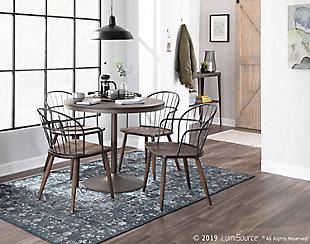 Dakota Dining Table, Antique/Espresso, rollover