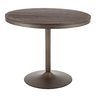 Dakota Dining Table, Antique/Espresso, large