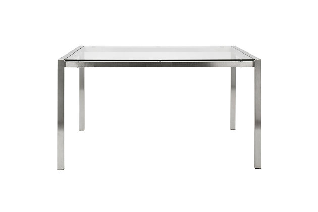 Fuji Dining Table, Clear, large