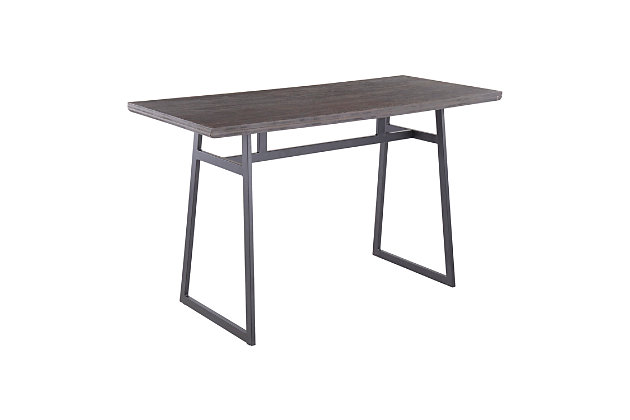 Geo Counter Height Dining Table, Black/Brown, large