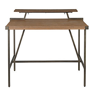 Gia Counter Height Dining Table, Antique/Brown, large