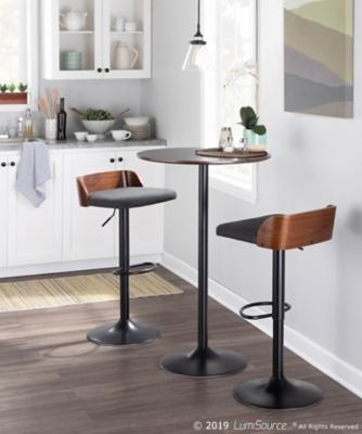 Pebble Adjustable Height Table, Black/Espresso, large