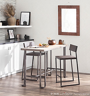 Roman Counter Height Dining Table, Antique/Brown, rollover