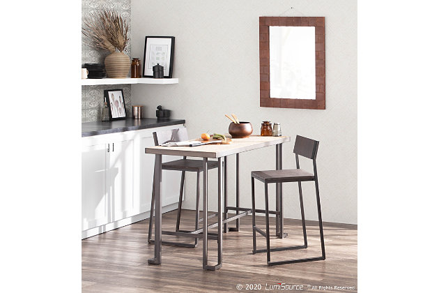 Roman Counter Height Dining Table, Antique/Brown, large