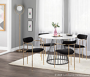 Canary Dining Table, Black/White, large