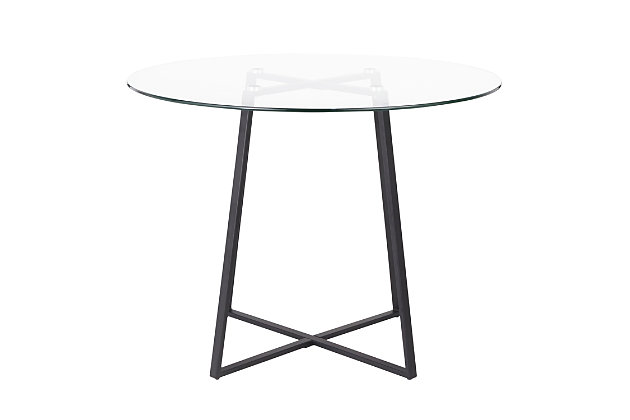 Cosmo Dining Table, Black/Clear, large