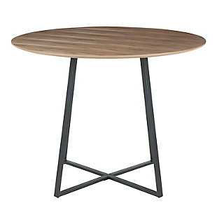 Cosmo Dining Table, Black/Walnut, large