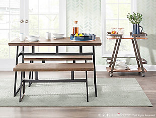 Geo Dining Table, Black/Brown, rollover