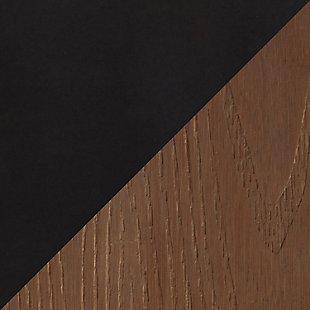 Geo Dining Table, Black/Brown, large