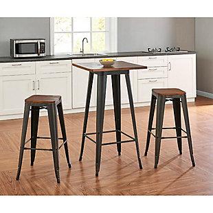"Euro Style Danne 24"" Bar Table, Black, large"