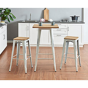 "Euro Style Danne 24"" Bar Table, White, rollover"