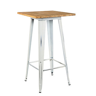 "Euro Style Danne 24"" Bar Table, White, large"