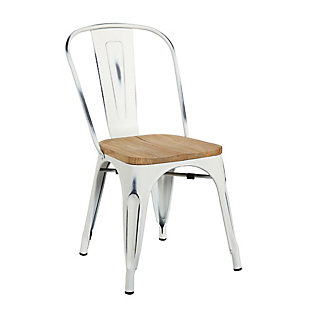 Euro Style Danne Stacking Dining Chair (Set of 4), White, rollover