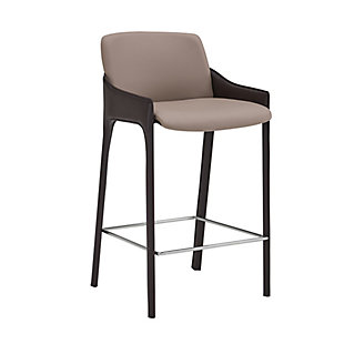 Euro Style Vilante Counter Stool, Taupe, rollover
