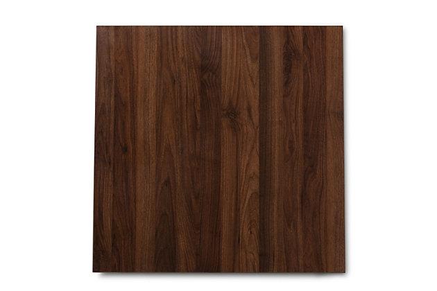 Lovy Beige Fabric Upholstered Dark Walnut-Finished 5-Piece Wood Dining Set, Walnut, large